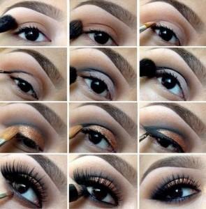 Oranj-Tonlarda-Simli-Göz-Makyajı-Örneği-