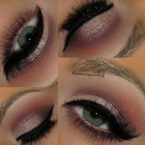 Pastel-Tonlarda-Simli-Göz-Makyajı-Örneği-