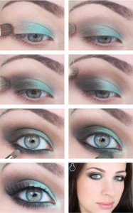 Yeşil-Tonlarda-Göz-Makyajı-Örneği