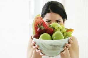 girl with bowl fruit pic 2
