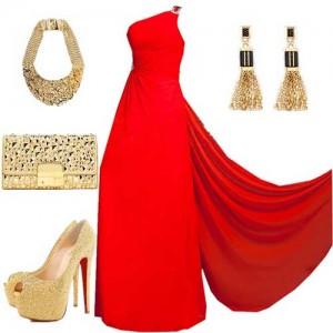 Özel-Gün-için-Kırmızı-Elbise-Kombin