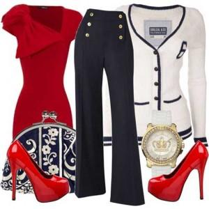 Kırmızı-Elbise-Alternatif-Kombini