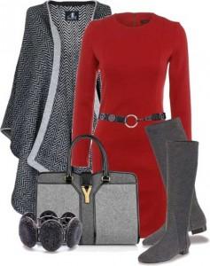 Kırmızı-Elbise-Kombin-Seçenekleri