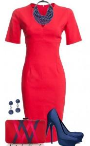 Kırmızı-Rahat-Elbise-Kombini