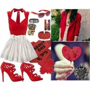 kırmızı-ayakkabı-beyaz-etek-bluz-kombini1