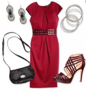 kırmızı-elbise-çok-şık-takı-kombini