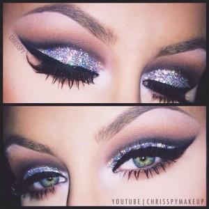 Gri-Pembe-Pullu-Göz-Makyajı-Örneği-