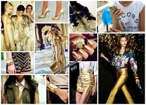 altın rengi elbise