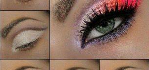Çift Renkli Göz Makyajı